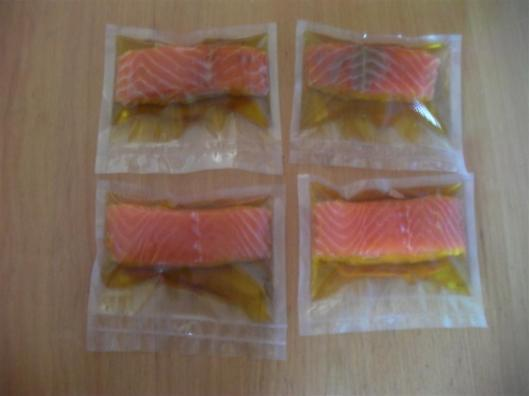 Filetes de salmón en aceite