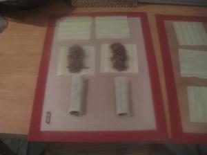 Formando los canelones