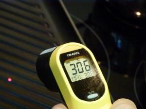 Parrilla de hierro fundido a 306ºC