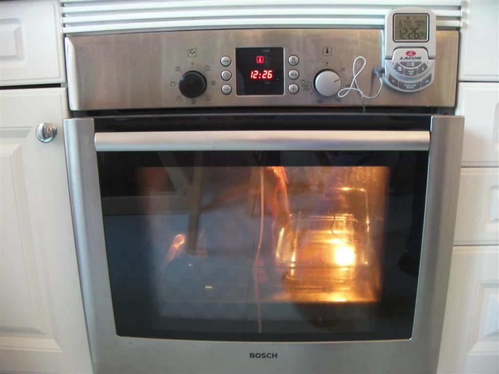 Temperatura para cocinar pollo al horno for Cocinar gambas al horno