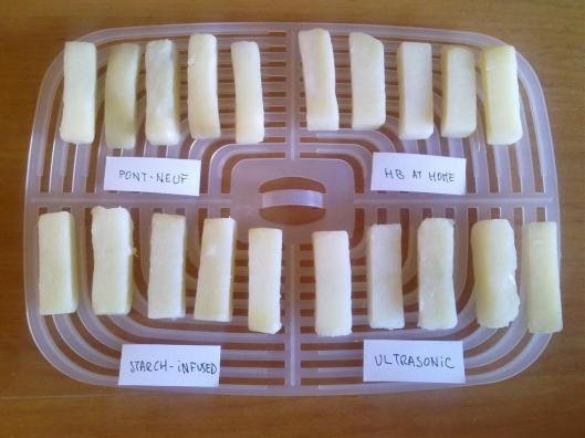4 tipos de patatas fritas - Tras la primera cocción en agua