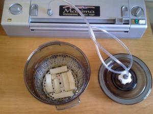 Enfriando patatas al vacío