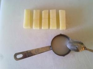 Infusionando almidón en las patatas fritas