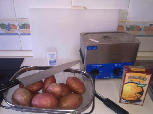 4 recetas de patatas fritas: mise-en-place