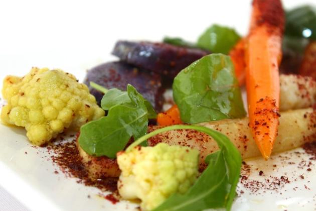 Ensalada de vegetales sous-vide, detalle