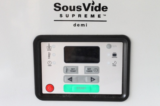 SousVide Supreme Demi, controles