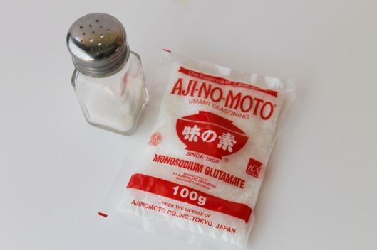 Sal y glutamato monosódico (MSG)