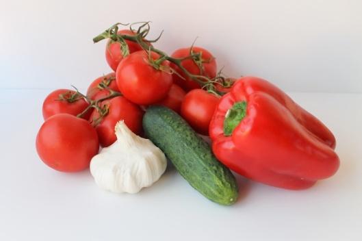 Verduras del gazpacho andaluz