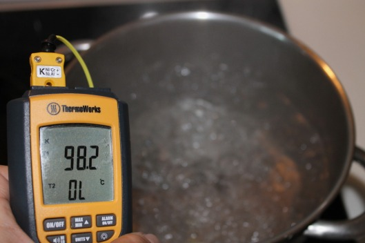 Temperatura del agua hiviendo en Madrid